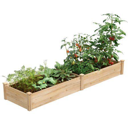 Greenes Value Cedar Raised Garden Bed 2 X 8 X 10 5 Inch
