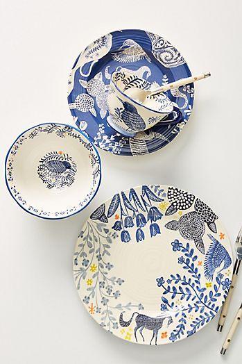 Saga Mugs Set Of 4 Plates Dinnerware Set Unique Ceramic Dinner Set
