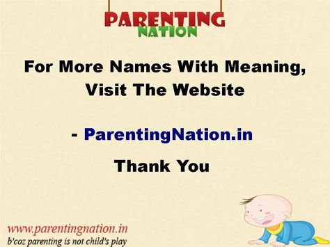 Its Now Easier To Name Your Baby. ParentingNation.in Brings Largest Database Of Hindu Baby Girl Names With Meaning.
