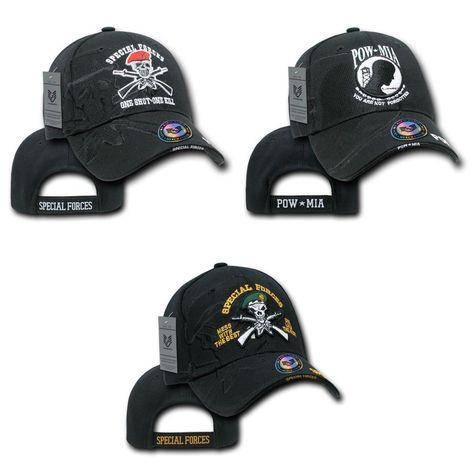 6ea2c7f017 Military US Special Forces Green Beret POW MIA Vietnam Veteran Baseball Cap  Hat  RapidDominance  BaseballCap