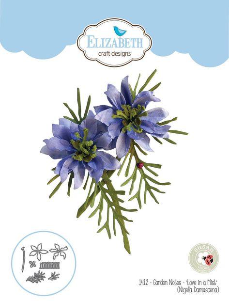 Blossom  ~1589 Elizabeth Craft Designs Cutting Die ~ GARDEN NOTES ~ FEVERFEW 1