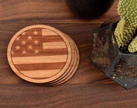 American Flag Coasters