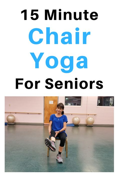 15 Minute Chair Yoga For Seniors - 15 Minute Chair Yoga For Seniors This 15 minute seated yoga practice will help elongate muscles, deepen your breathing and ease stress and anxiety. Chair Exercises, Balance Exercises, Stretching Exercises For Seniors, Senior Fitness, Yoga Fitness, Video Fitness, Workout Fitness, Workout Videos, Workouts