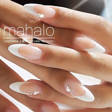 All season / Adult ceremony / Bridal / Simple / French-mahalo nail Nail book - Our most popular french scalp # french nail