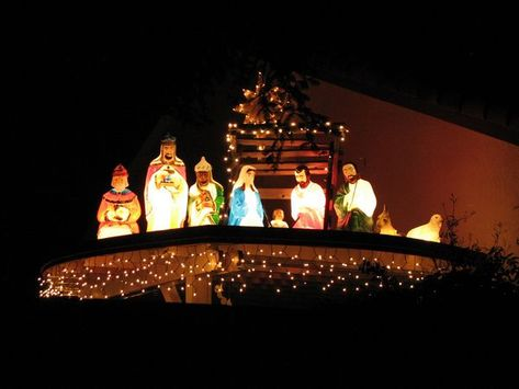 unique outdoor christmas lights ideas unique outdoor nativity scene