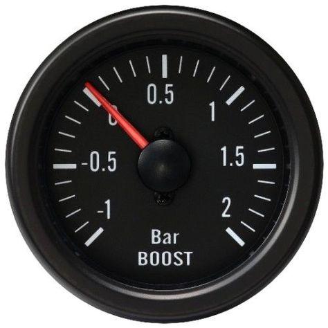 52mm Universal LED Auto Ladedruck Anzeige Zusatz Instrument Turbo Gauge Boost