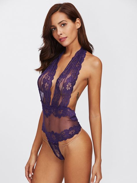 Lovely lingerie lace bodysuit is perfect for date night or lounging around the house looking sexy.To find out about the [good_name] at SHEIN, part of our latest Sexy Lingerie ready to shop online today!