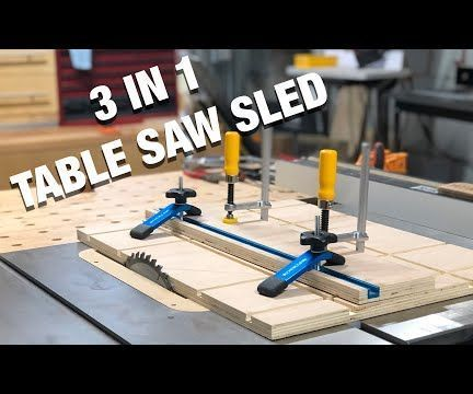 How To Make A Three In One Table Saw Sled Table Saw Sled Table Saw Table Saw Station