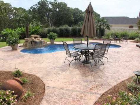 Monroe Louisiana Saltwater Fiberglass Pool With Rico Rock By