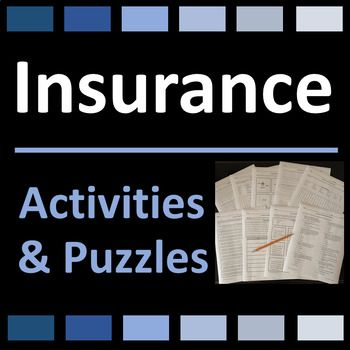 Insurance Activities And Puzzles Distance Learning Supplemental