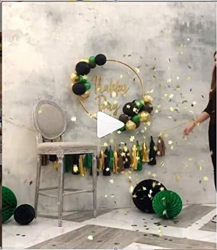 Partywoo Green Gold Balloons 60 Pcs 12 Inch Dark Green Balloons
