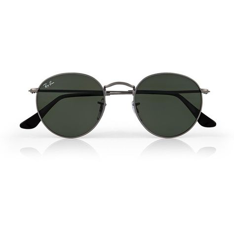 8e1a65dfccc Ray-Ban Round Metal Sunglasses (1915 MAD) ❤ liked on Polyvore featuring  accessories