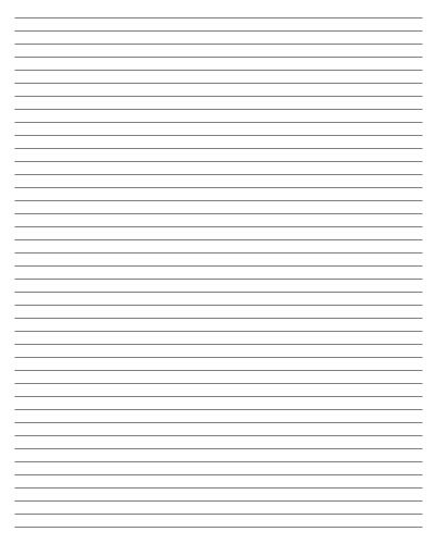 Printable Printable Sheets Donu0027t Need Anything Fancy? Then Try Out This  Simple Lined Blank Page. If You Donu0027t Have Any Notebooks On Hand, These  Blank Sheets ...  Free Printable Lined Paper Template