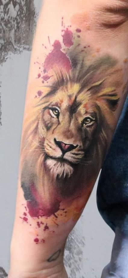 56 Ideas Tattoo Lion Women Animals For 2019 Tattoo Watercolor