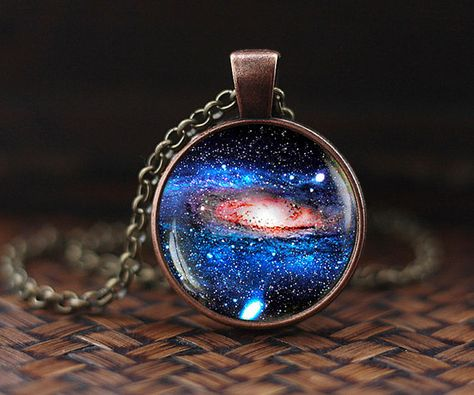 Nebula Necklace Galaxy Astronomy Pendant Solar System Jewelry Space Un – intothea