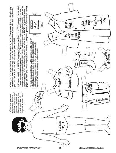 Craft For Colossians 3 12 Sunday School Preschool Bible