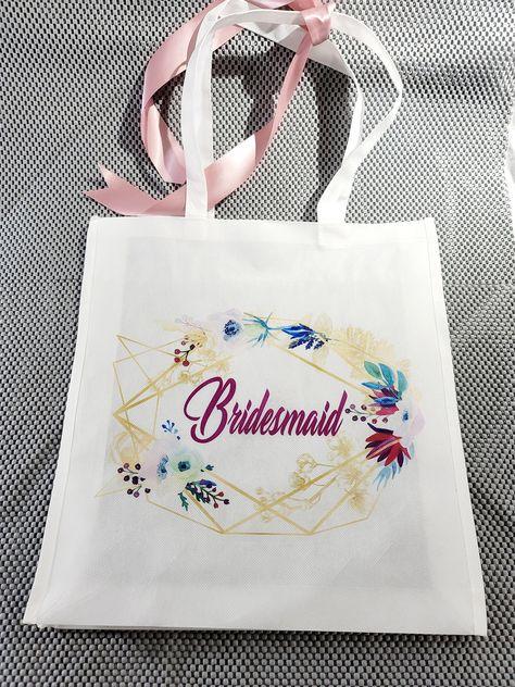 Large Tote Bag - Bride To Be - Bridesmaids - Personalize Monogram Bag - Bridesmaids Gift - Wedding Bride Gift - Custom Tote Bag #BridesmaidGift #FlowerGirlBag #BridesmaidBags #BrideGift #EngagementGift #WeddingGift #WeddingPartyGifts #BrideToBe #BridalPartyBags #BrideBag