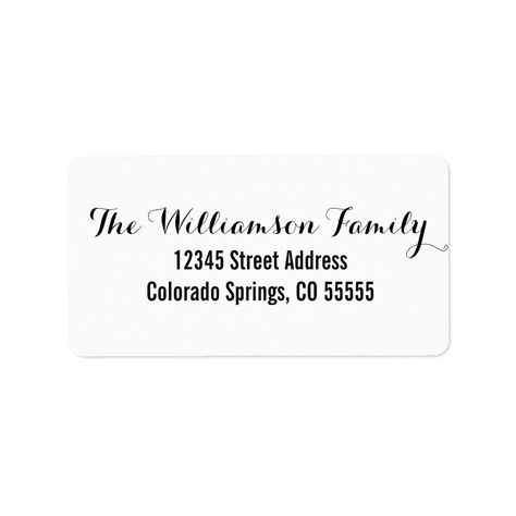 Two Fonts - Address Label 5 sheets