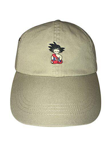 Goku Hats Goku Meditating Embroidered Adjustable Strapback Dad Hat Baseball Cap Dragonball Z Khaki Dad Hats Baseball Caps Dad Hats Baseball Hats