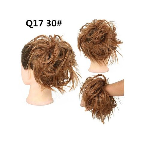 Tousled Updo Messy Bun Hair Piece,Hair Extension Ponytail With Elastic Rubber Band  Hairpiece,Hair E