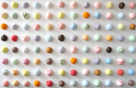 Pretty pastel scoops of ice cream ; Sweet dreams by Osamu Watanabe