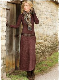 Moorish arabesques in dusty rose and burgundy scroll across this romantic pima and Lycra jersey dress. Effortless t-shirt dressing, with a fit-and-flare shape and scoop neck.