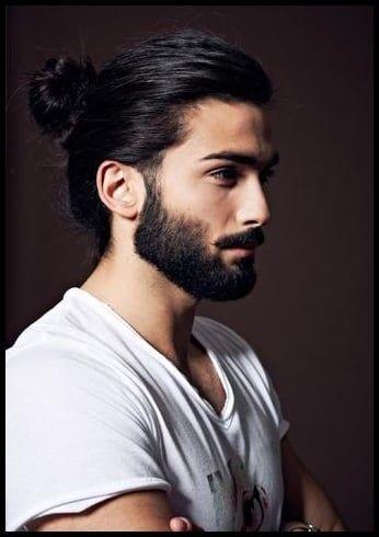 Manner Mit Bart Und Langen Haaren Zopf Haare Frisur Mens Ponytail Hairstyles Long Hair Styles Men Man Ponytail