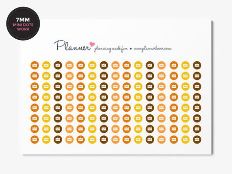 Mark Your Working Hours with these 7mm Mini Dots Planner Stickers - Erin Condren October Colors