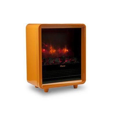Crane 1 500 Watt Portable Electric Compact Heater Finish Orange