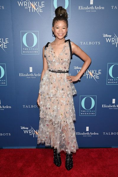 Storm Reid attends as O, The Oprah Magazine, hosts a special NYC screening of 'A Wrinkle In Time' at Walter Reade Theater.