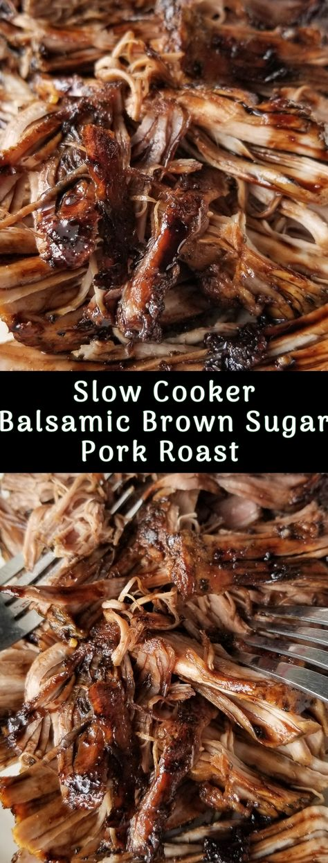 Slow Cooker Balsamic Brown Sugar Pork Roast Slow Cooker Balsamic Brown Sugar Pork Roast ,Amanda Cooks & Styles Recipes Tender Slow Cooker Balsamic Brown Sugar Pork Roast Related Healthy Lunch Ideas For Weight. Pork Roast Recipes, Pork Tenderloin Recipes, Slow Cooker Recipes, Cooking Recipes, Pork In Crockpot Recipes, Taco Recipe, Crescent Rolls, Slow Cooking, Cooking Ribs