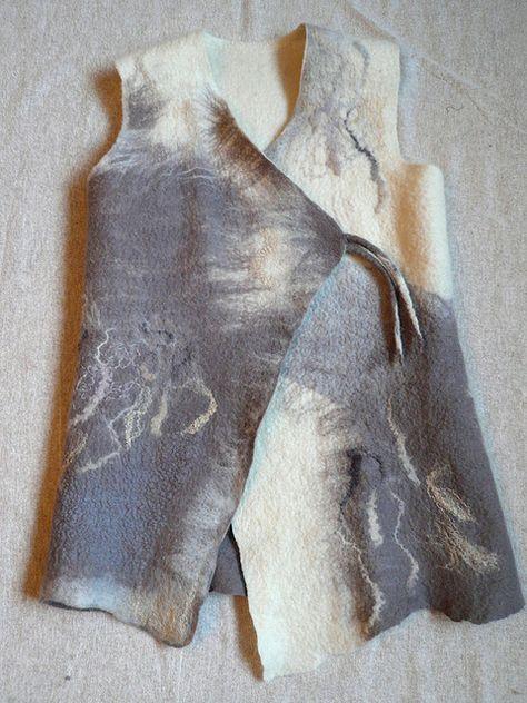 Nuno Felted Light Rose Quartz Halter Vest-Corset Closure Vest-Lace Doily Vest-Vintage Vest-Pixie Top-Fairy Top-Natural Top-Wedding Top-OOAK