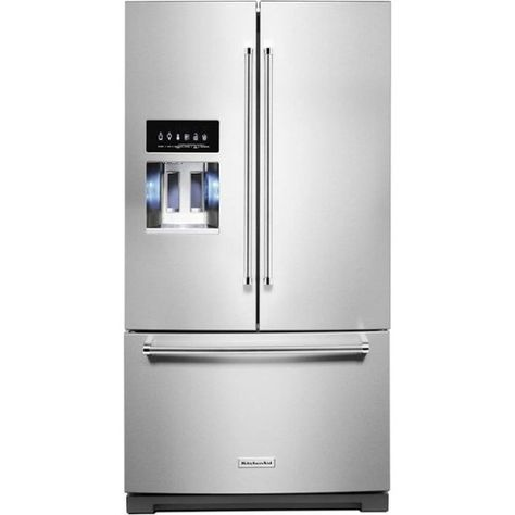 Kitchenaid 27 Cu Ft French Door Refrigerator Printshield Stainless Krff507hps Best Buy French Door Refrigerator Kitchen Aid Stainless Steel French Door Refrigerator