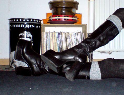 BUFFALO T 24400 Kult Plattform Stiefel 90er Größe 37 Leder