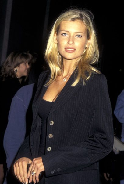 Daniela Pestova during Champagne Krug Toast to the NY Collection Fashion Benefit DIFFA October 25 1995 at Supper Club in New York City New York.