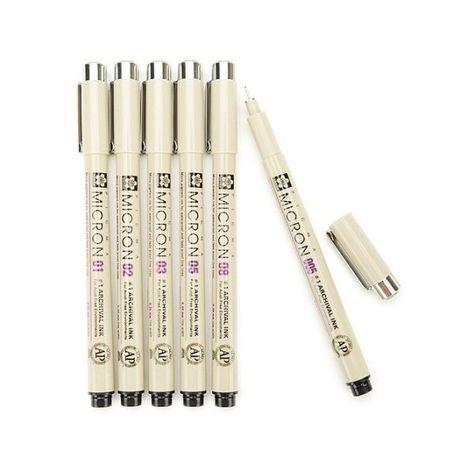 Sakura 30062 6-Piece Pigma Micron Ink Pen Set Black