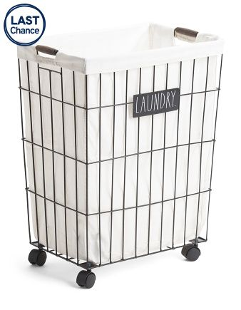 Metal Hamper On Wheels Hamper Storage
