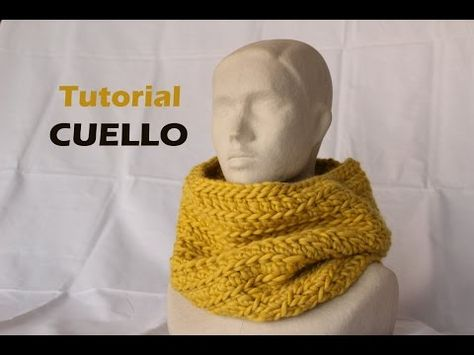 Tutorial de un cuello de punto grueso a ganchillo - crochet