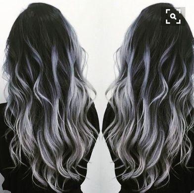 Black To Gray Silver Balayage Hair Tips Hair Care Hair