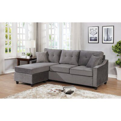 Latitude Run Mandica Reversible Sectional With Ottoman Upholstery