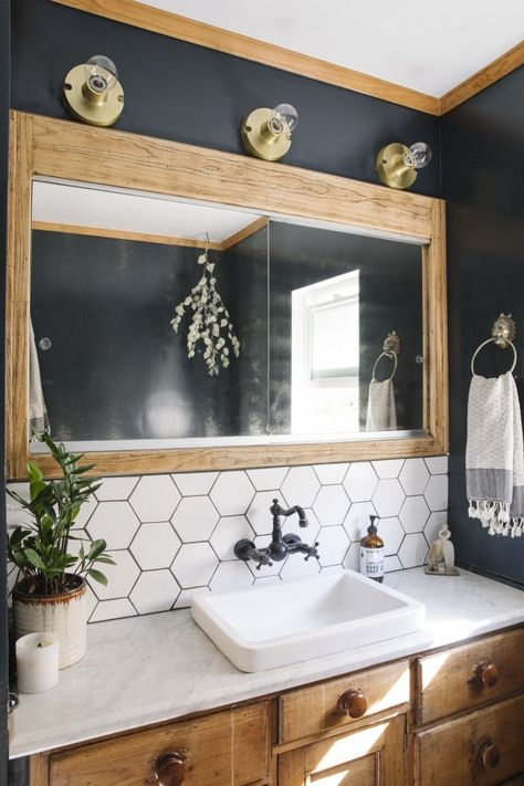boho Bathroom Decor Elaina Bellis Home Tour - bathroomdecor Bad Inspiration, Bathroom Inspiration, Bathroom Renos, Bathroom Interior, Bathroom Renovations, Bohemian Bathroom, Dressing Room Design, Stylish Bedroom, Wood Accents