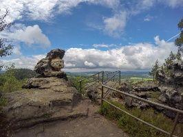 Foto Eine Der Aussichtsstellen Auf Dem Papststein Gps Wandern Festung Konigstein Wandern
