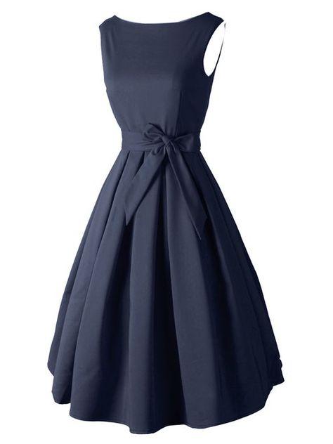 974a12c5ea5 Luouse Robe Courte Classique année 50 Vintage Robe de soirée  Amazon.fr   Vêtements et accessoires