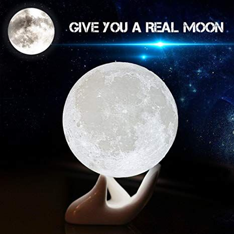 Moon Lamp Balkwan 3d Printing Moon Light Dimmable With Touch Control Rechargeable Lunar Light Home Decorat Decorative Night Lights Romantic Gift Night Light