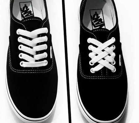 how to lace vans classic chaussures