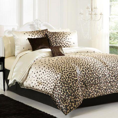 lepord Print Bedroom Ideas   leopard bed design Room decor design with the leopard idea