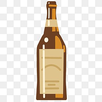 Brown Creative Wine Bottle Illustration Brown Beer Drinking Png Transparent Clipart Image And Psd File For Free Download Wine Bottle Illustration Wine Glass Illustration Wine Bottle