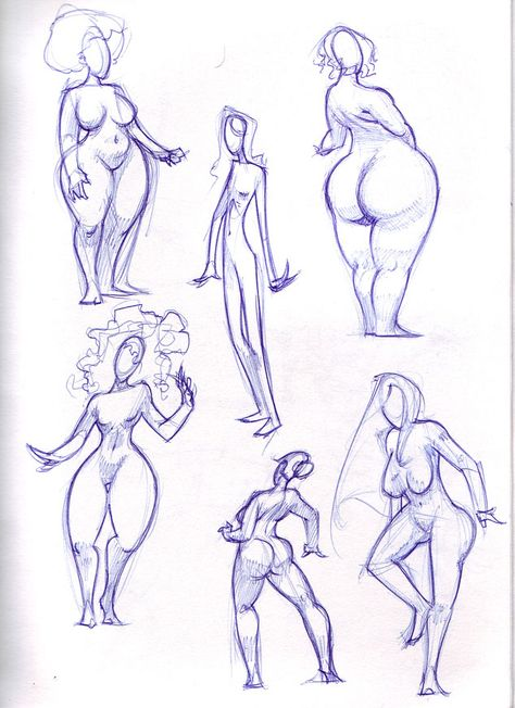 female shapes by ~biz02 on deviantART