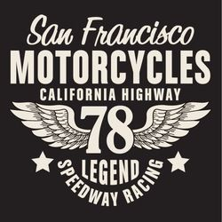 california motorcycle typography t-shirt graphics vectors vintage