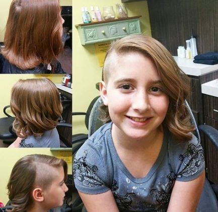Bob Haircut With A Shaved Side Is Quite A Funky Look And May Not Suit Every Kiddo So Choose It Caref Kids Bob Haircut Asymmetrical Bob Haircuts Bobs Haircuts